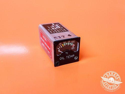 Indicador de Temperatura do Óleo 0°C - 125°C Sigma Tek 169AU-BWL 28V P/N 169AU-910-8BWL