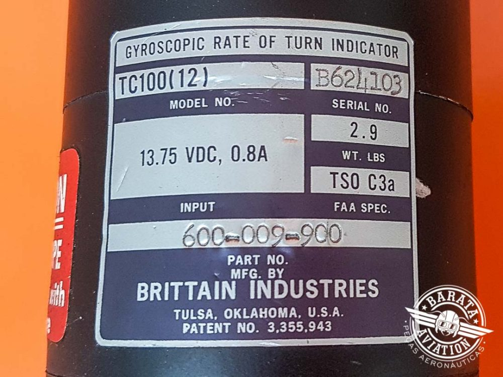 Turn Bank Brittain Industries TC100 14V P/N 600-009-900