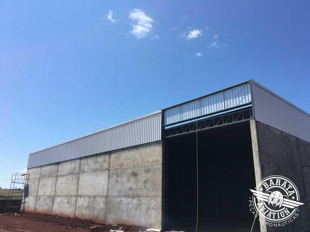 Terminamos a construção de mais um hangar na Barata Aviation
